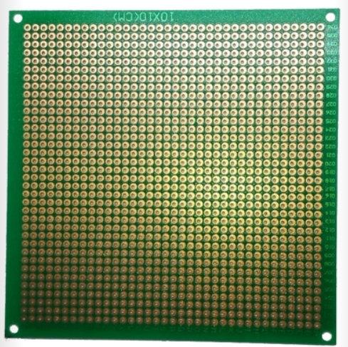 Placa fenolica verde perforada 10x10