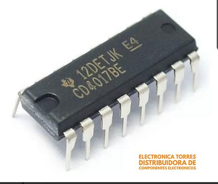Cd4017 CMOS contador