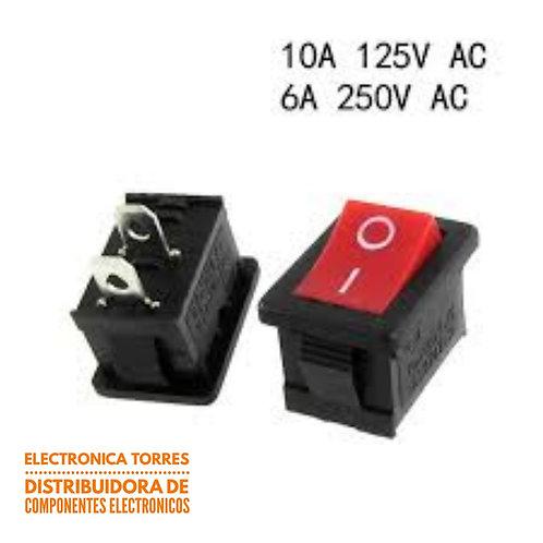 Interruptor unipolar 2 patas 125v ac 6 amp