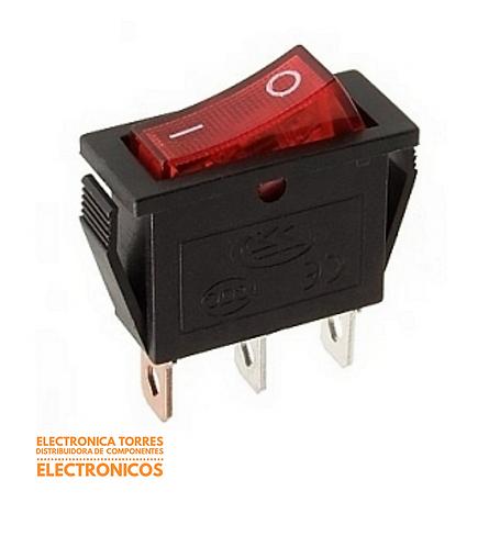 Switch balancin con luz 20 A 14mmx10mmx8mm 250v