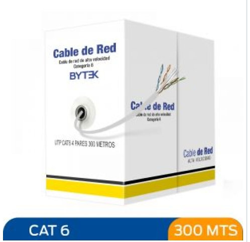 Bytek Cable UTP Categoria 6 de 300 metros