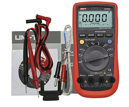 Multimetro UT-61C 1000VDC 750VAC  10 A 60MOHMS