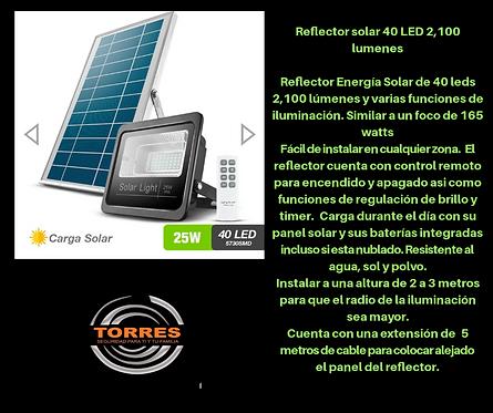 Reflector solar 40 led 2100 lumenes 25 w