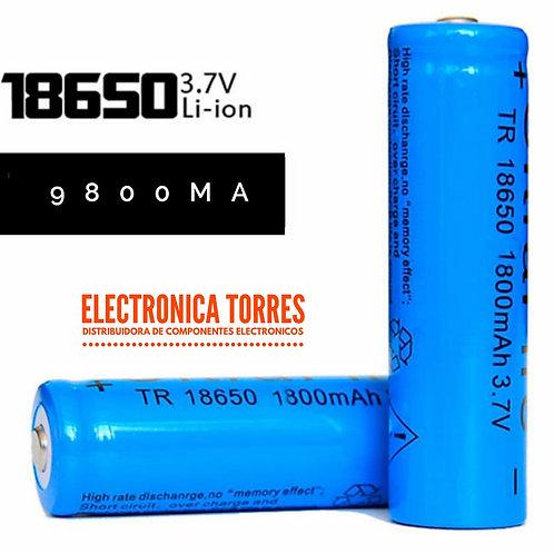 Bateria de litio 3.7v 9800mA 2 piezas