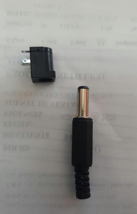 Jack y plug invertido 2.5mm
