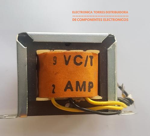 Transformador 9v 2 amp 115v Ac