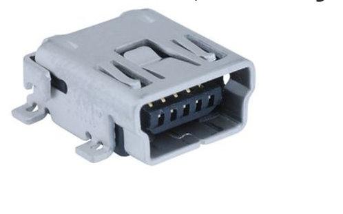 Conector USB, Mini USB Tipo AB, USB 2.0, Receptáculo eléctrico, 5 Posiciones, Mo