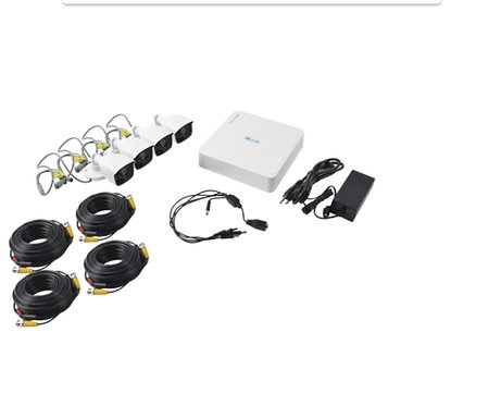 Kit turbo 4 camaras 720p/ dvr 8ch  /4 cables 18mt HILOOK KIT7208BM