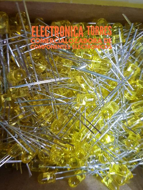 Bolsa de 100 pzas led amarillo 5mm