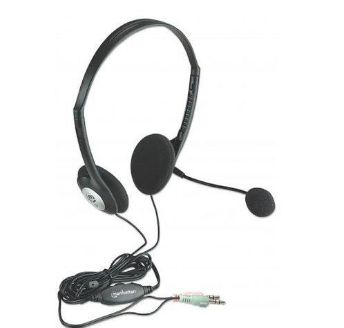 Diadema con microfono omnidireccional MANHATTANplug 3.5mm
