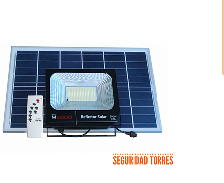 Reflector con celda solar 200watt