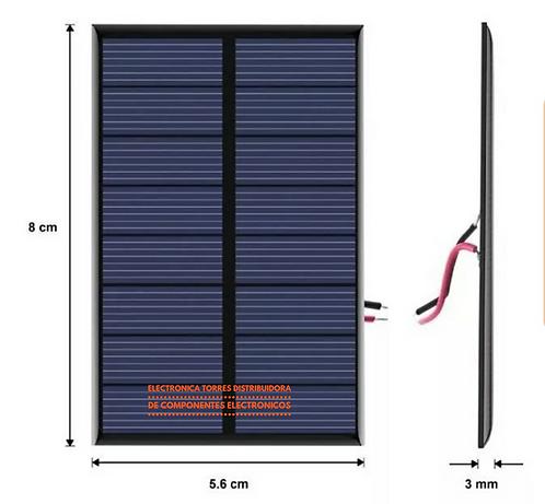 Panel solar de 6v 100mA