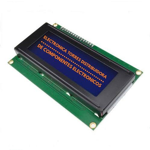 LCD 20X4 LUZ DE FONDO AZUL