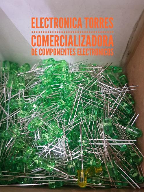 Bolsa de 100 leds verde 5mm
