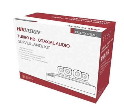 Kit turbo 5megapixel/dvr 4 canalres / 4 camaras con microfono