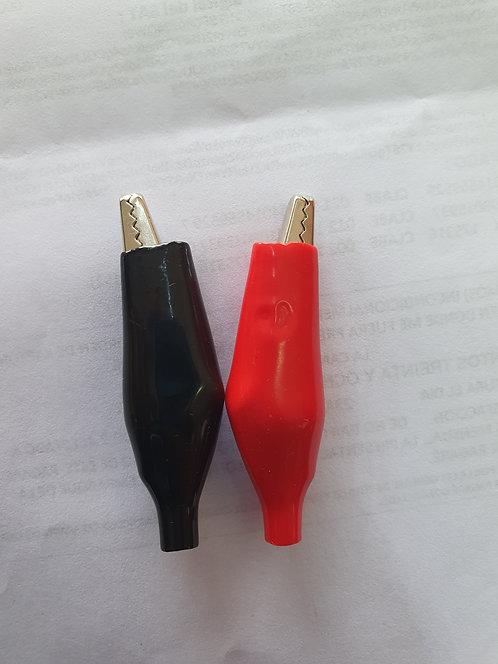Caiman grande rojo 10Amp (par)