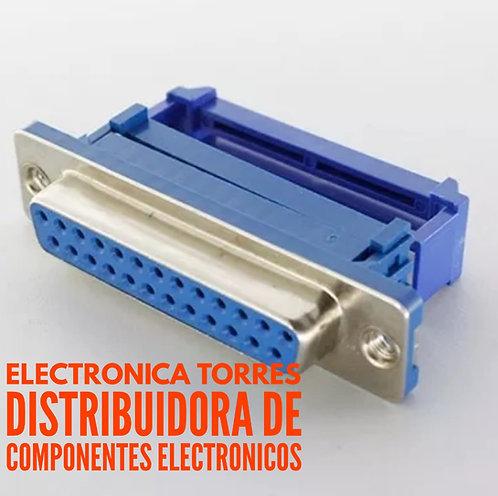 Conector db25 hembra para cable plano