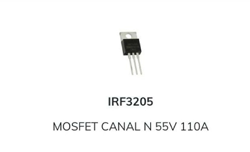 Mosfet IRF3205 tipo TIP 55v 110 Amp