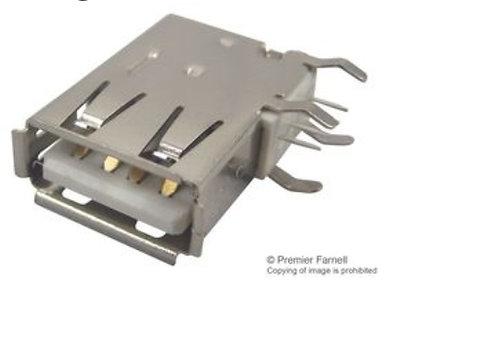 Conector USB, USB Tipo A, USB 2.0, Receptáculo eléctrico, 4 Posiciones