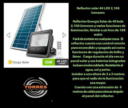Reflector solar 40 LED 2,100 lumenes
