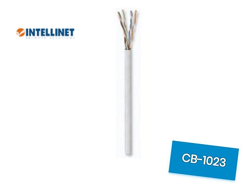 BOBINA CABLE UTP DE RED CAT5E INTELLINET 100% COBRE 24 AWG ROLLO 305 METROS SOL