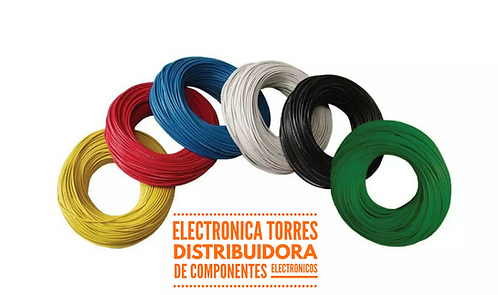 Rollo de cable AZUL estañado #22 100mt
