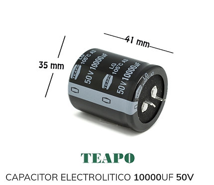 Capacitor electrolitico 10000 50v 105°