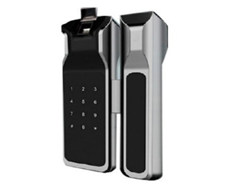 Cerradura biometrica para puerta de vidrio/100 usuarios ancho de puerta 8 a 13mm