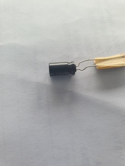 Capacitor electrolitico 2.2 mf 250v 85°