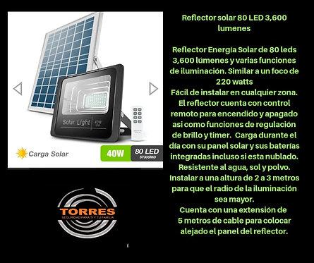 Reflector solar 80 LED 3,600 lumenes