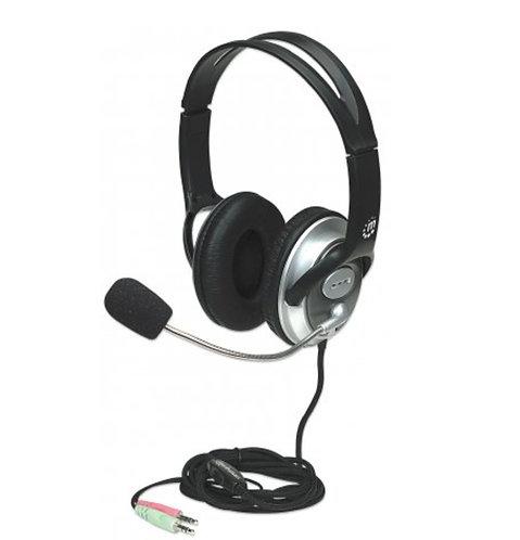 Audifonos de diadema con microfono MANHATTAN 105mw plug 3.5mm