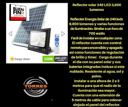 Reflector solar 240 led 3600 lumenes 120W