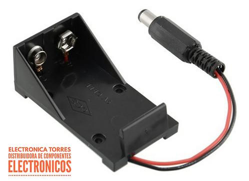 Porta pila 9v con plug 2.1mm