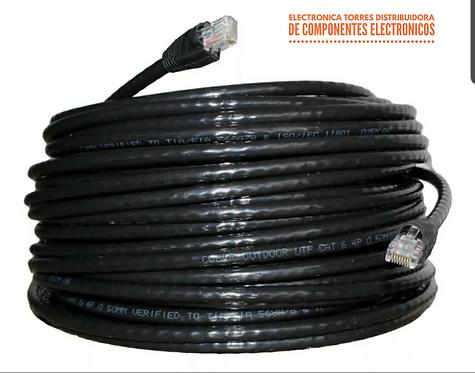 Cable de red UTP cat 5 reforzado para exterior (40 metros)