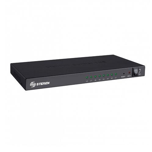 Amplificador con divisor de señal HDMI de 8 salidas