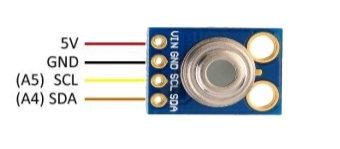 Sensor infrarojo de temperatura sin contacto GY-906