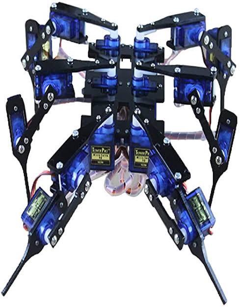Hexapodo araña 18 grados de libertad