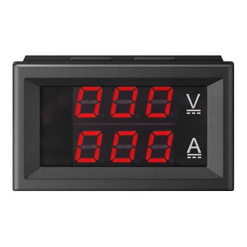 """Voltimetro y Amperimetro 100v DC 100A .28"""""""