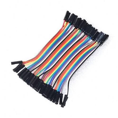 Arnes  de 40 cables dupont 10cm hembra-hembra
