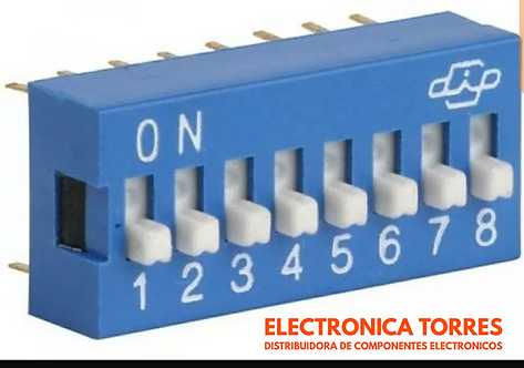 Dip switch 8 pines