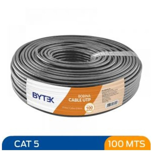 Bytek Cable UTP Categoria 5 de 100 metros Doble Forro