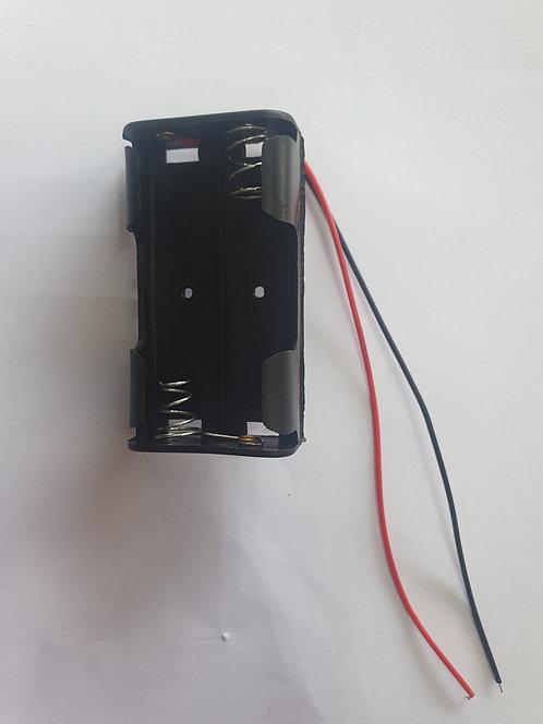 Porta pilas para 2 pilas AA PB-105