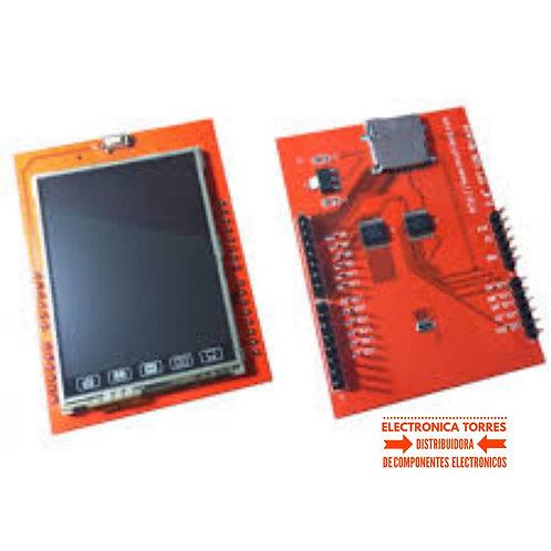 "Pantalla Touch TFT 2.4"" Shield para arduino"