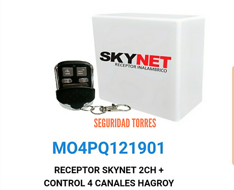 Receptor skynet con control remoto hasta 100mt
