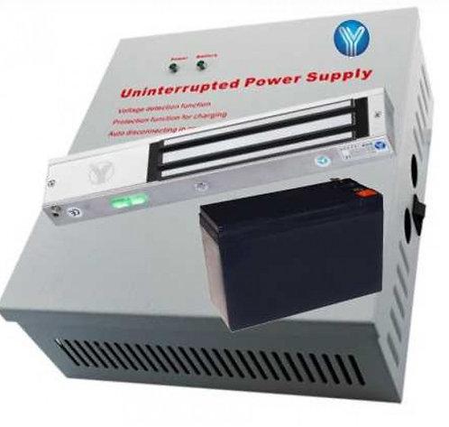 Paquete con chapa magnetica con indicador LED de 280 Kg o 600 Lb y gabinete met