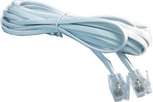 Cable telefonico 10mt / cable plano blanco