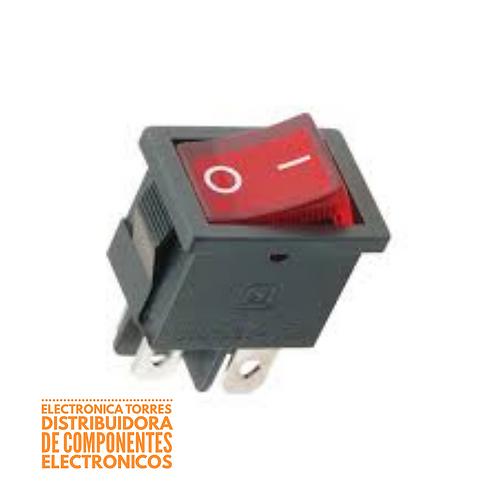 Switch balancin miniatura con luz