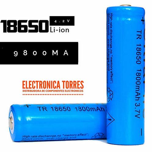 Bateria de litio4.2v 9800mA  2 piezas