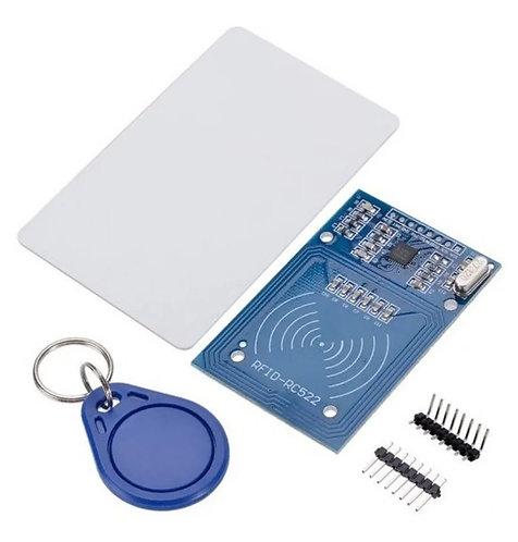 Modulo RFID RC522 con tarjeta y llavero.