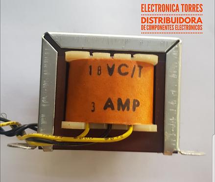 Transformador 18v 3 amp AC